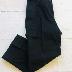 Theory Black Cropped Pant